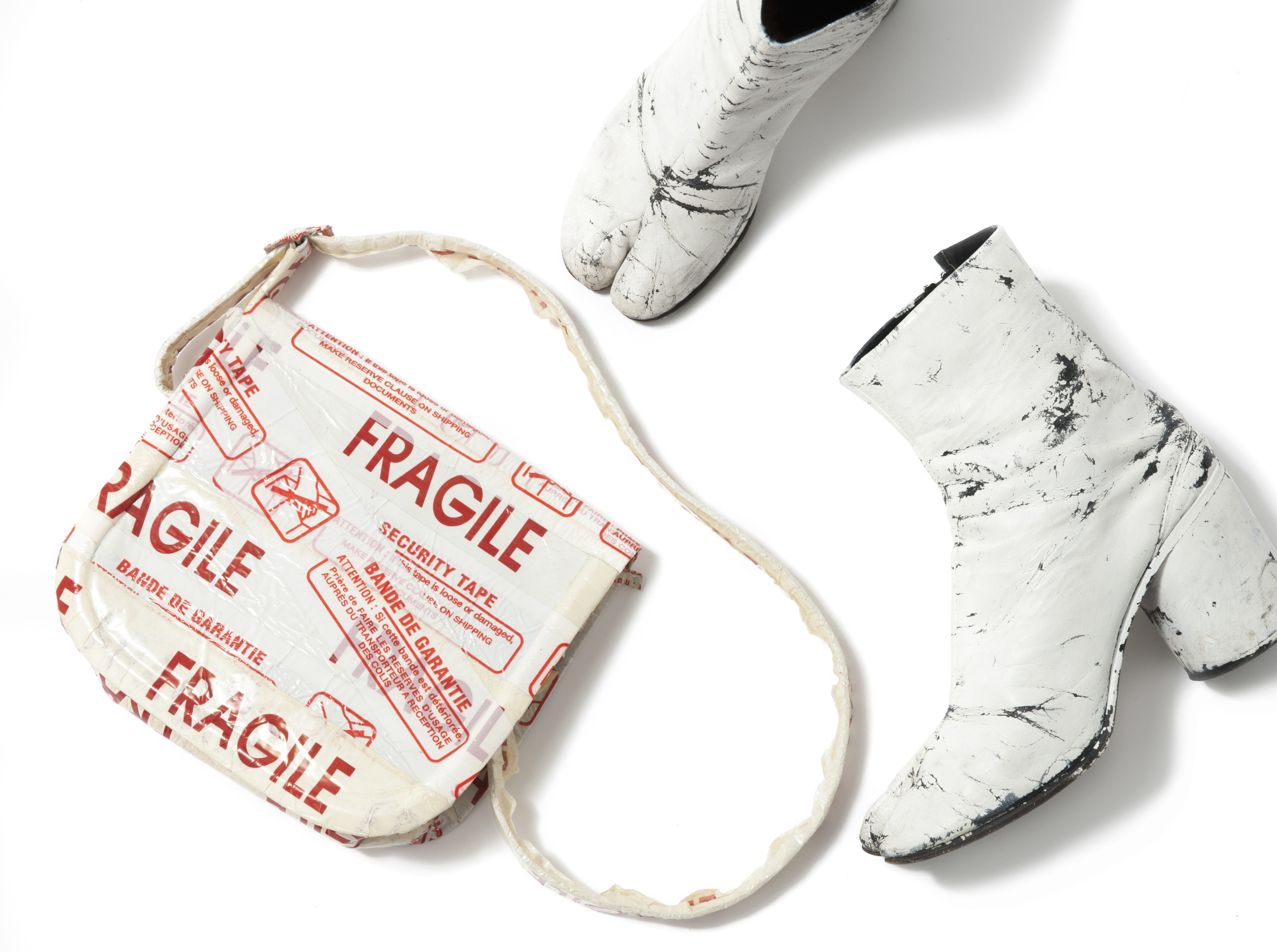 "Items from Martin Margiela's seminal ""Fragile"" collection."