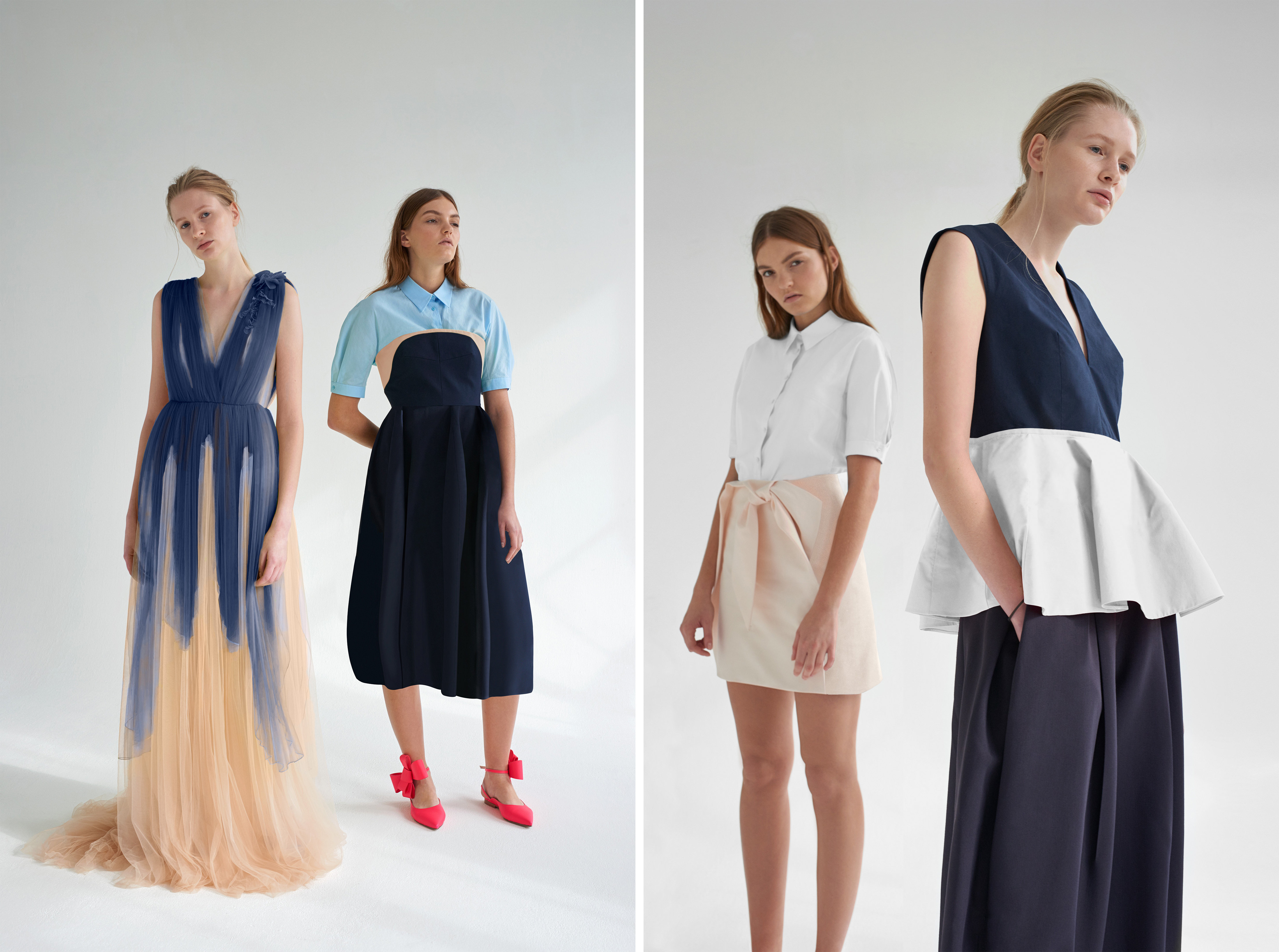 Looks from the Delpozo x Stylebop.com collaboration