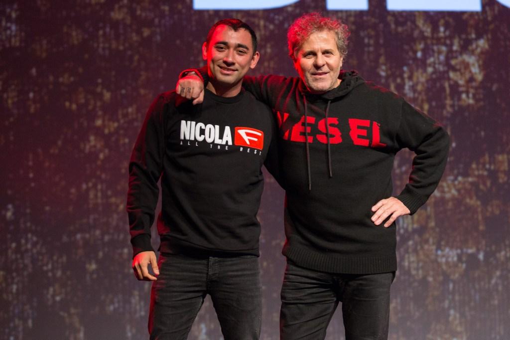 Nicola Formichetti and Renzo Rosso.