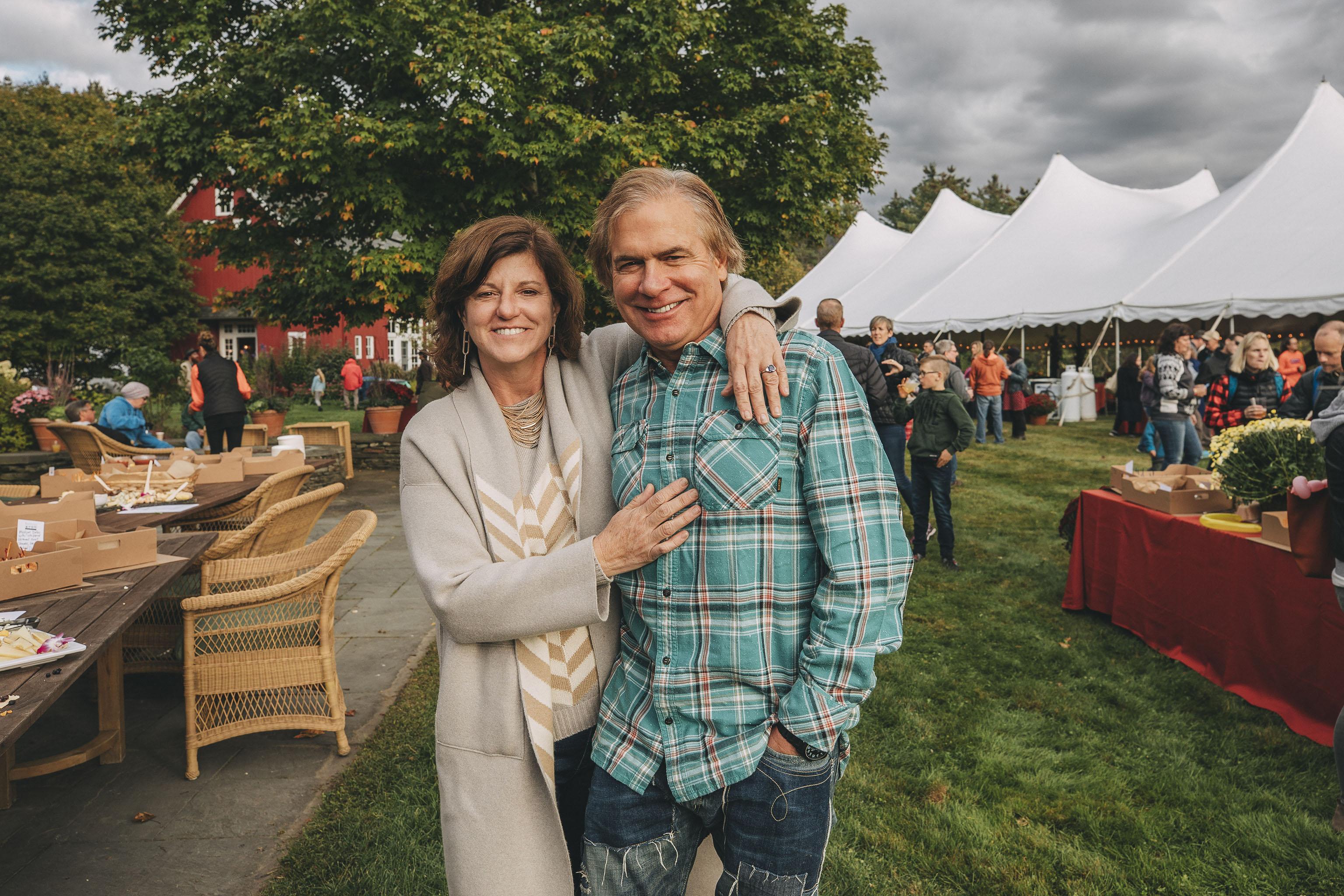 Donna Carpenter and her husband Jake Burton.