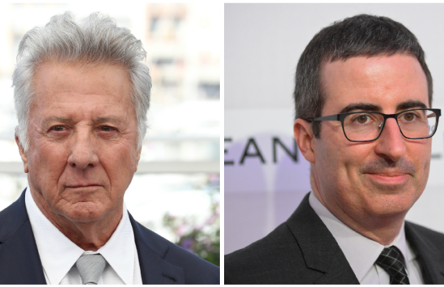 Dustin Hoffman and John Oliver