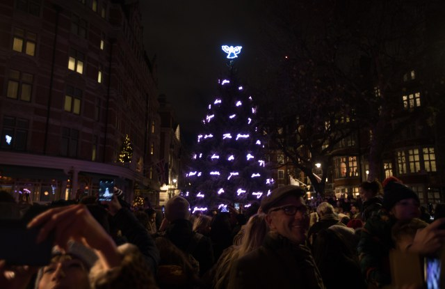 The Connaught Christmas tree designed by Tracey Emin