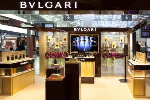 Bulgari's fragrance popup.