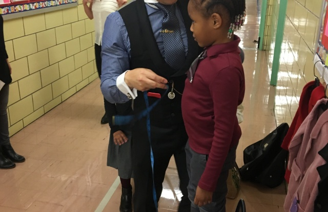 Andrew Jang is designing and giving one-of-a-kind coats to 270  students at PS 154 in the Bronx.