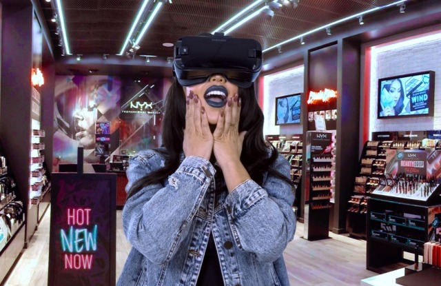 Customers in select NYX stores will be able to view makeup tutorials in a virtual reality experience.