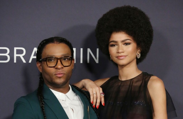Law Roach and Zendaya at the InStyle Awards in October.