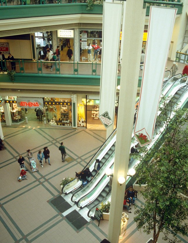 A Nineties shopping mall.