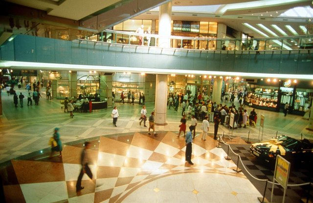 A Nineties shopping mall