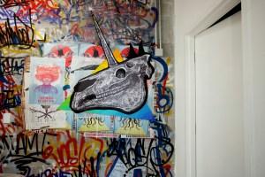 A mural by artist Alexis Diaz.