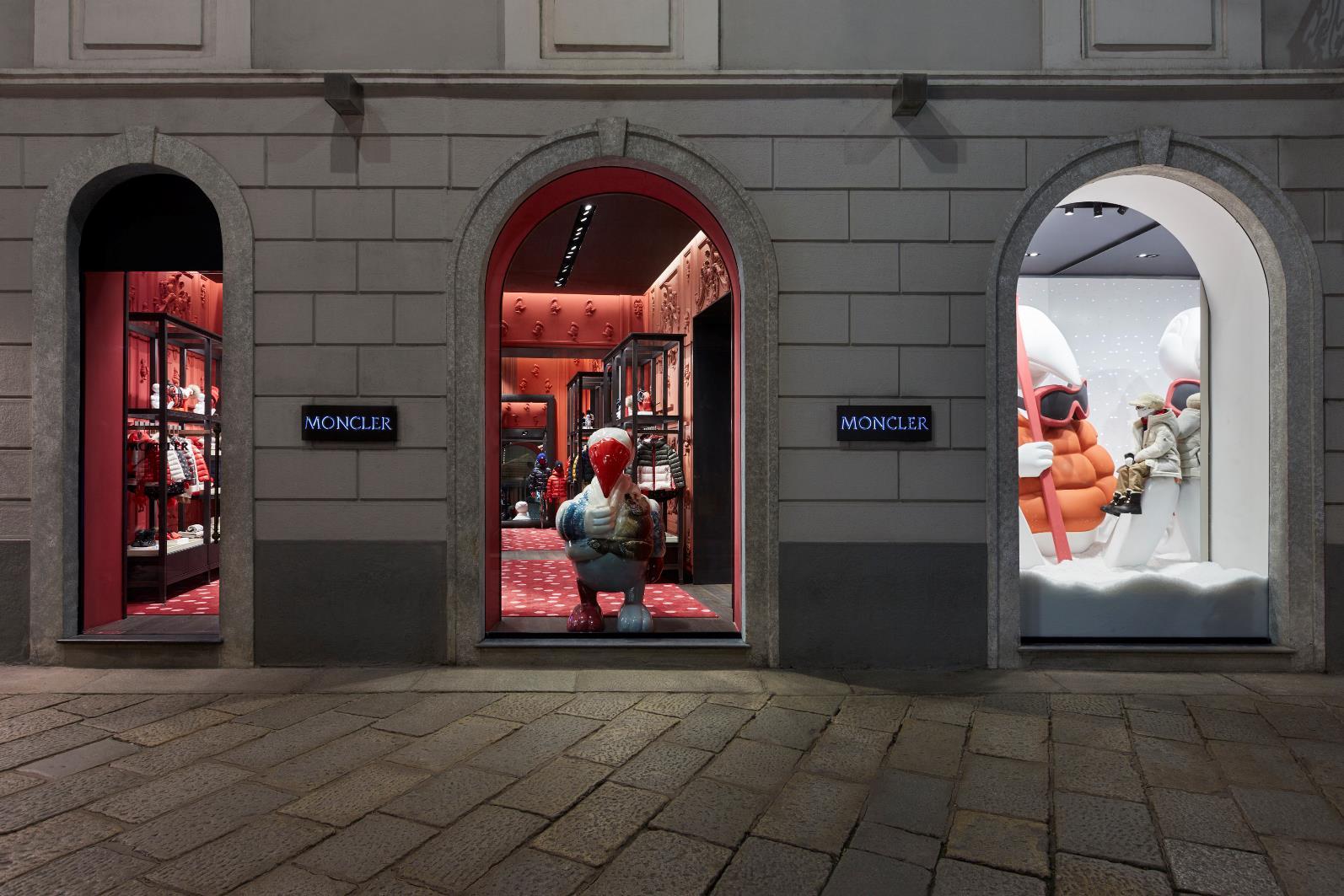 The Moncler Enfant store in Milan's Via Spiga.