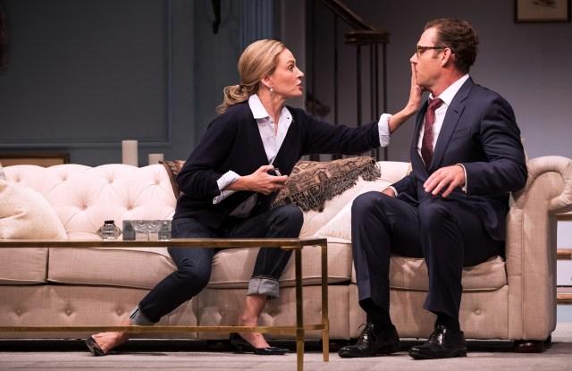 "Uma Thurman and Marton Csokas in ""The Parisian Woman"""