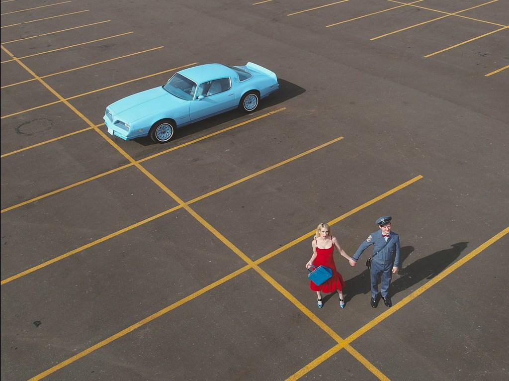 "Emma Roberts and Elijah Wood in Prada's ""The Postman Dreams 2"" short movies series."