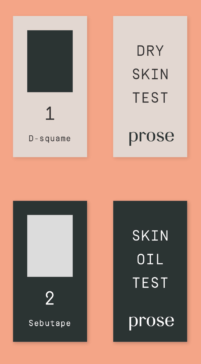Prose patches to test for scalp dryness and sebum levels.