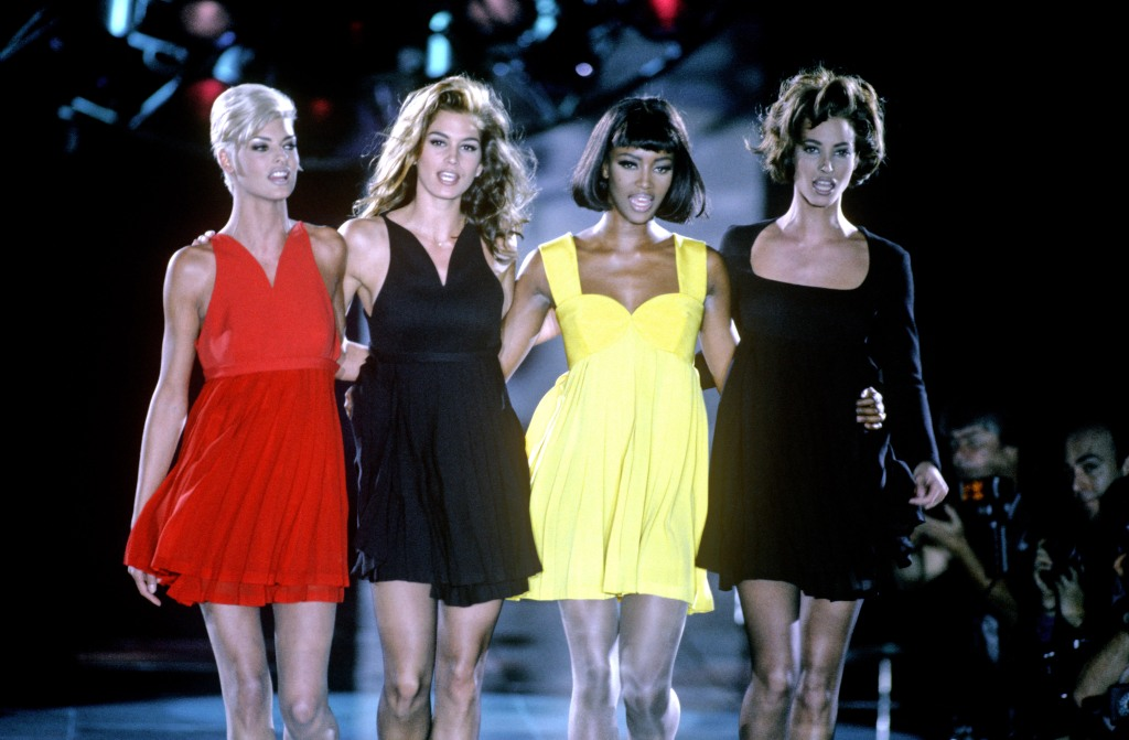 Linda Evangelista, Cindy Crawford, Naomi Campbell and Christy Turlington.Versace Autumn Winter Fashion Show, Milan, Italy - Dec 1991