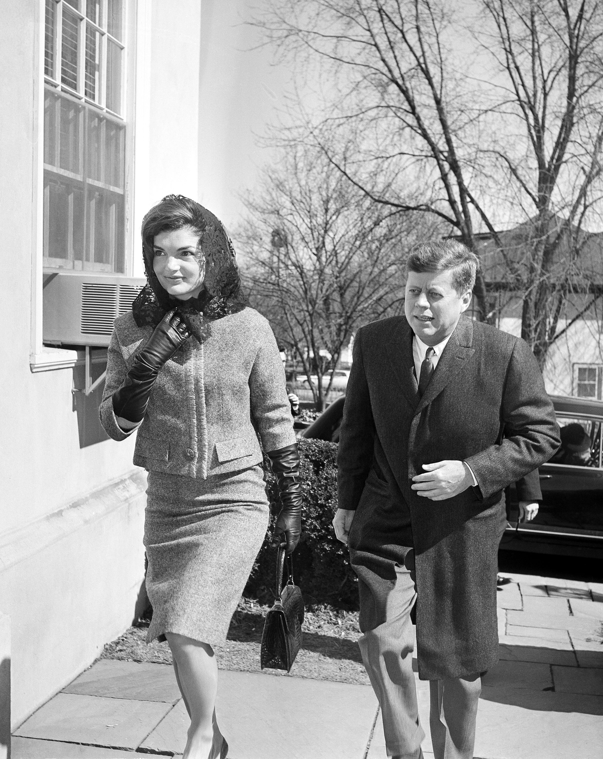 John F. Kennedy, Jacqueline Kennedy President John F. Kennedy and first lady Jacqueline Kennedy arrive at the Middleburg Community Center to attend Roman Catholic services in Middleburg, Virginia, . The Kennedys are spending the weekend at their Glen Ora estate near hereJohn F. Kennedy And Jackie, Middleburg, USA