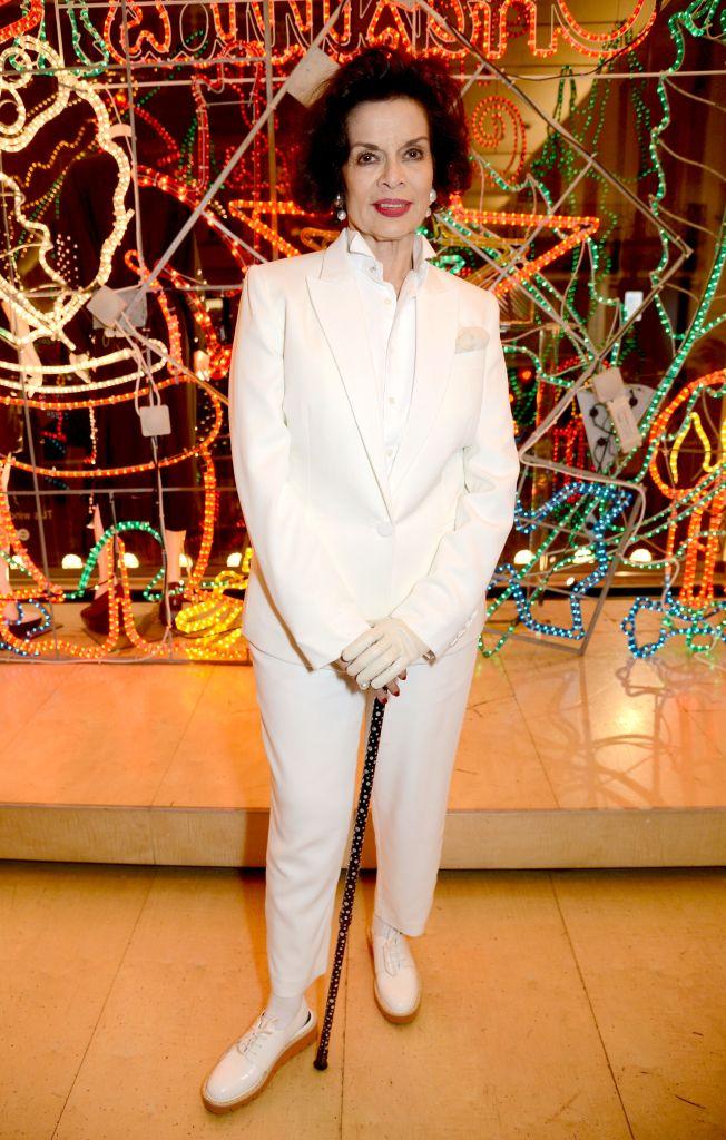 Bianca Jagger Stella McCartney store Christmas lights switching on ceremony, London, UK - 06 Dec 2017