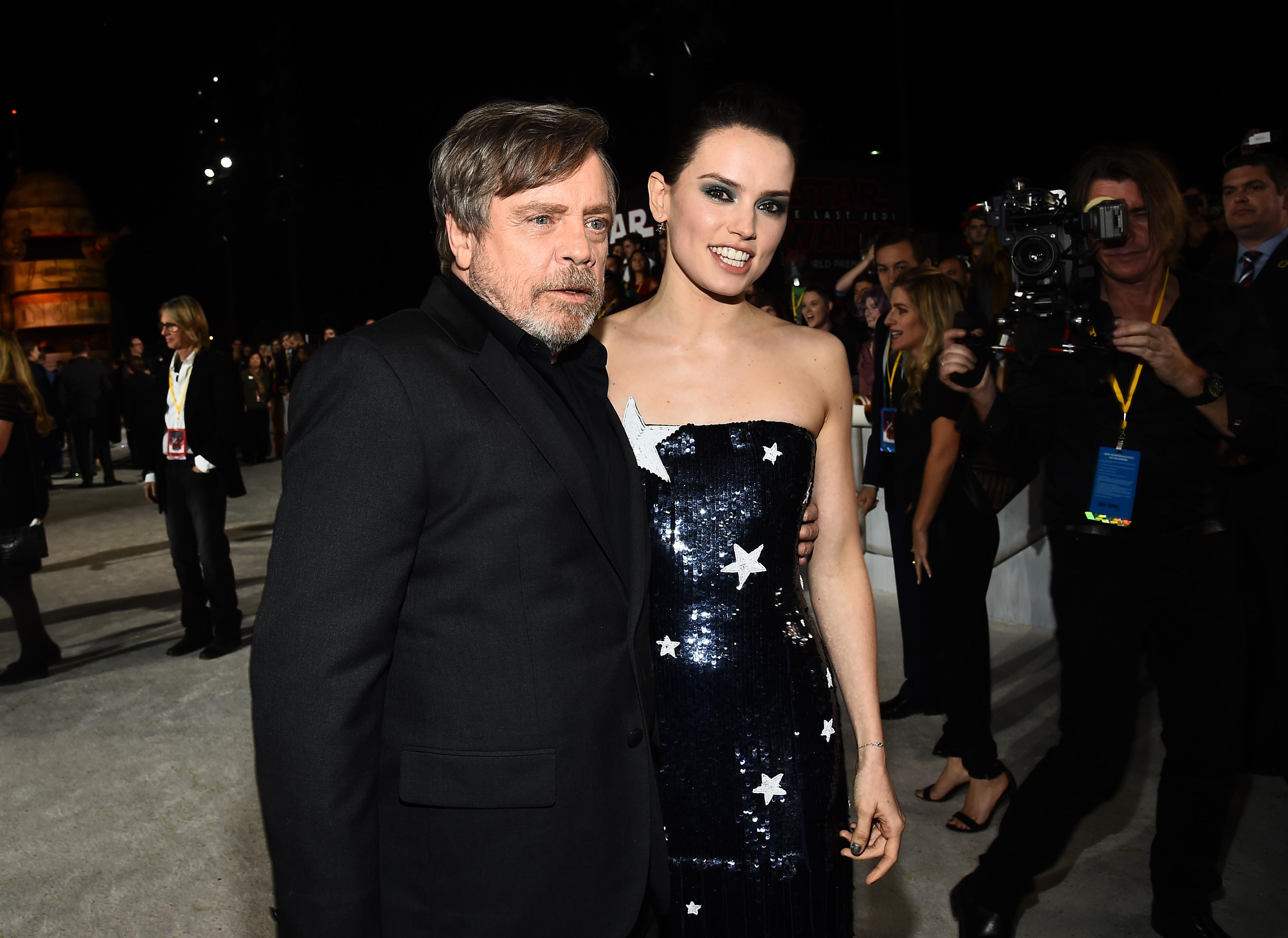 Mark Hamill and Daisy Ridley'Star Wars: The Last Jedi' film premiere, Arrivals, Los Angeles, USA - 09 Dec 2017