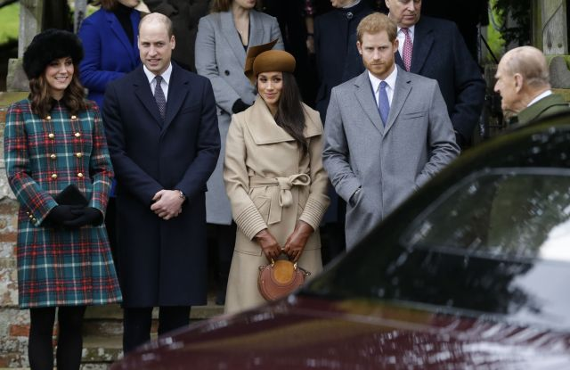 Kate, Duchess of Cambridge, Prince William, Meghan Markle, Prince Harry and Prince Philip