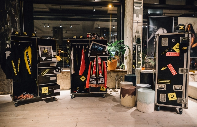 The first Tokio Hotel capsule collection at its launch at The Store in Berlin