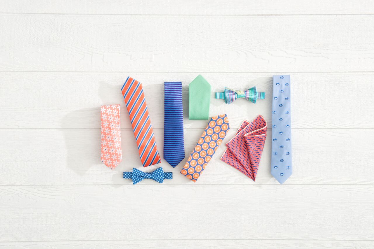 Looks from the Southern Tide neckwear line.