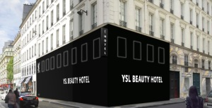 A rendering of the YSL beauty hotel.