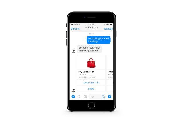 Louis Vuitton's Virtual Assistant on Facebook Messenger