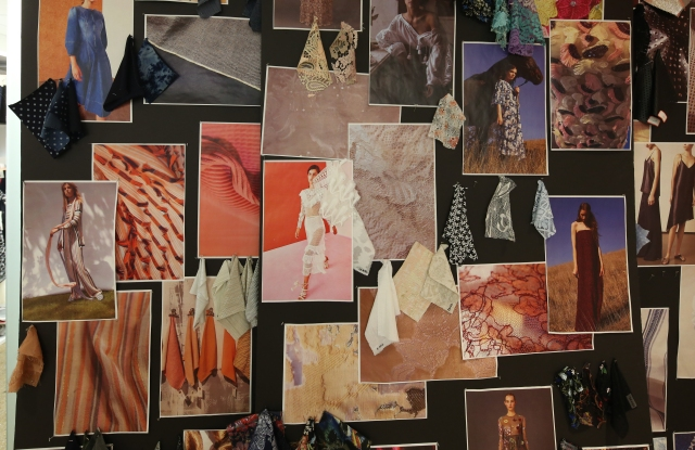 The inspiration board from Xcel's textiles research team.