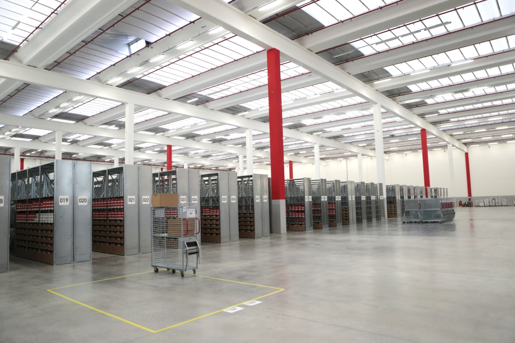 Zalando's warehouse in Stradella, Italy.