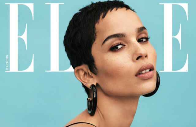 The cover of Elle's January issue.