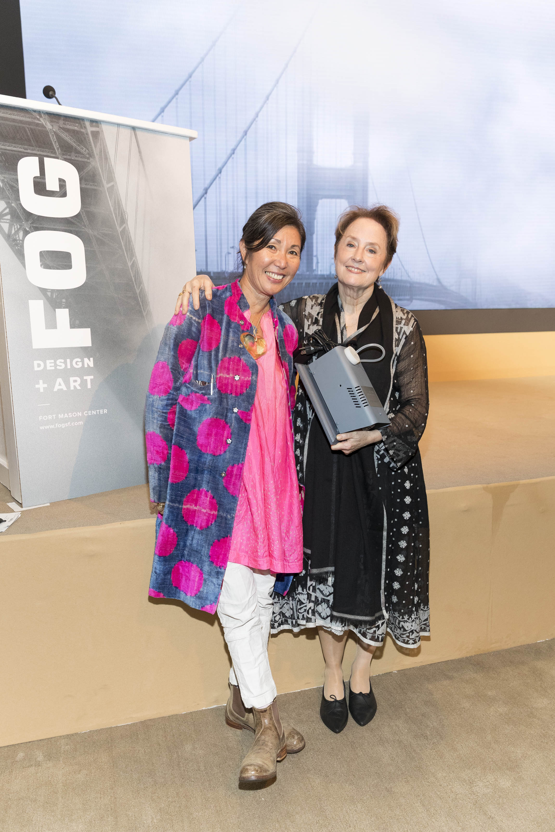 SAN FRANCISCO, CA - January 11 -  Christina Kim and Alice Waters attend Innovators Luncheon - FOG Design+Art on January 11th 2018 at Fort Mason Center in San Francisco, CA (Photo - Drew Altizer)