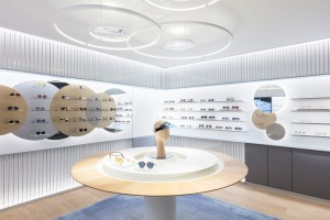 A view of Dior's new eyewear store.