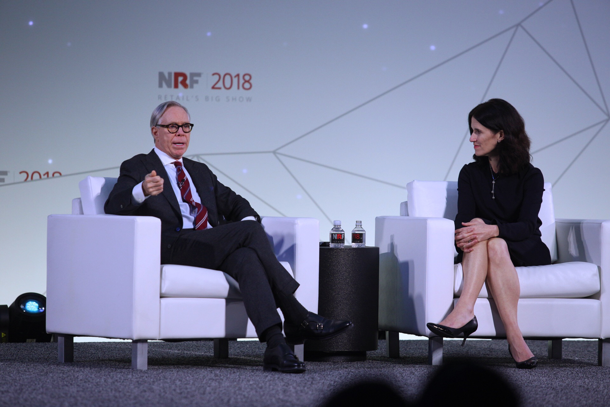Tommy Hilfiger and Michelle Peluso