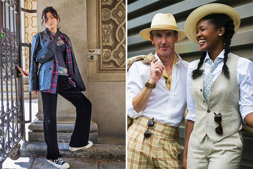 Left: Acielle of Style du Monde, Right: A street style look by Acielle.