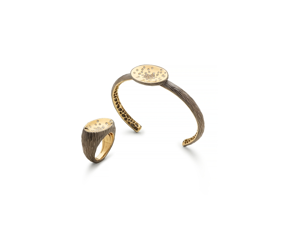 """A ring and a bracelet from Antonini """"Etna"""" collection"""