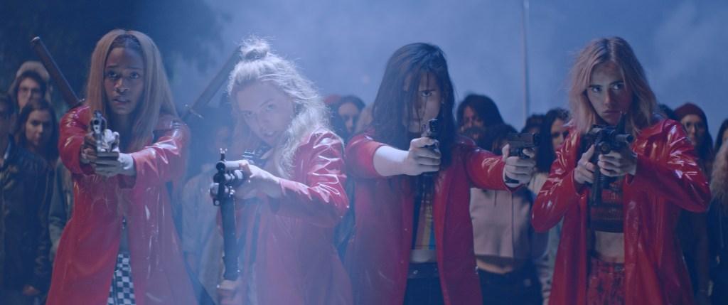 Abra, Odessa Young, Hari Nef and Suki Waterhouse appear in <i>Assassination Nation</i> 2018 Sundance Film festival.