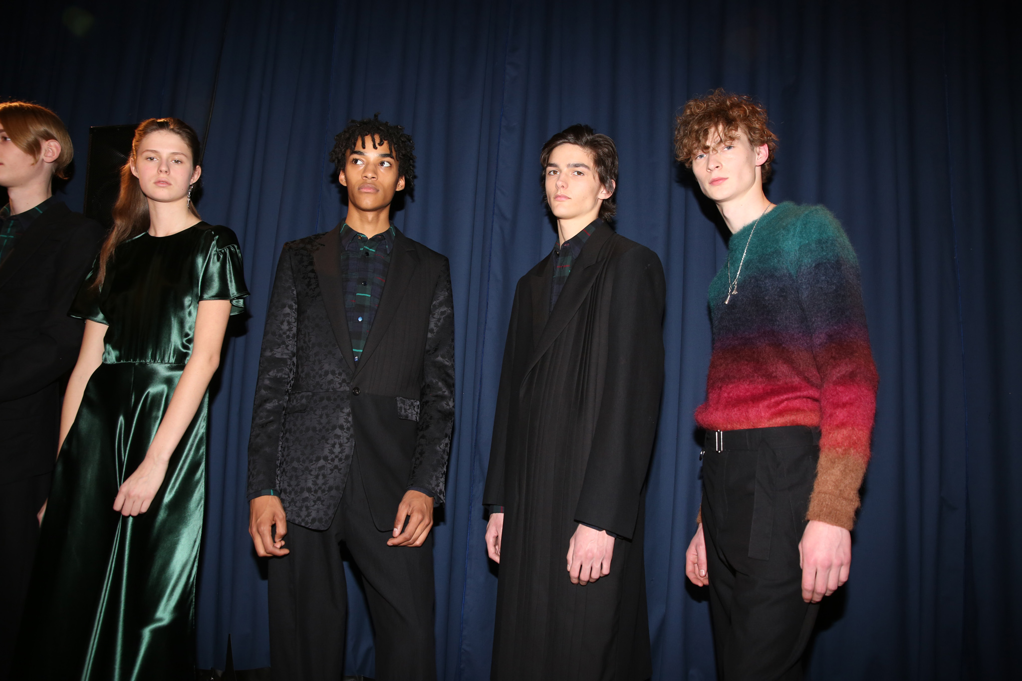 Backstage at Paul Smith Men's Fall 2018