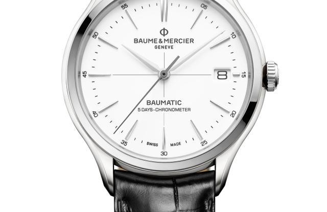 Baume & Mercier Clifton Baumatic COSC 10436 steel leather