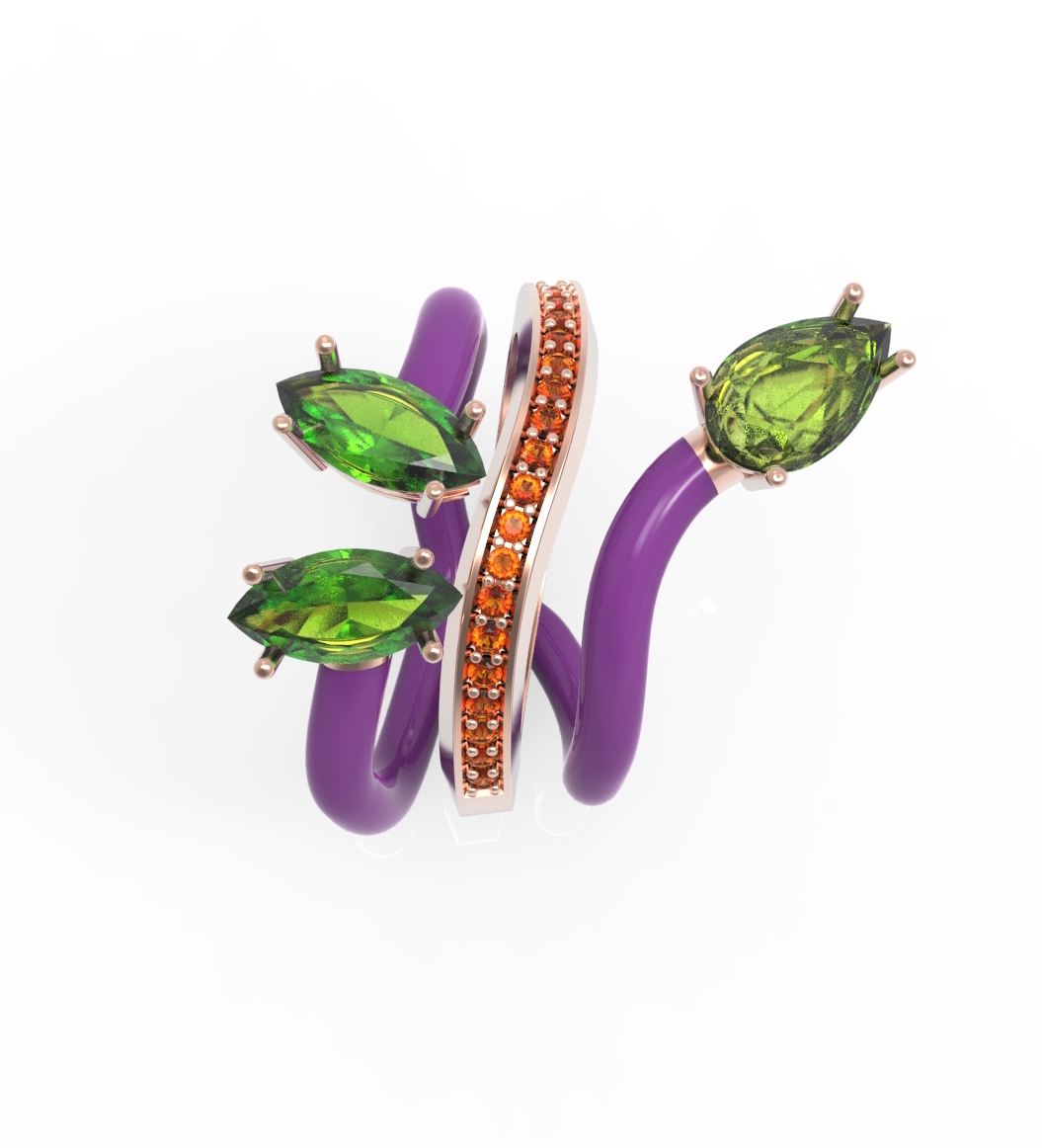 """A ring from Bea Bongiasca """"You're so vine!"""" collection"""