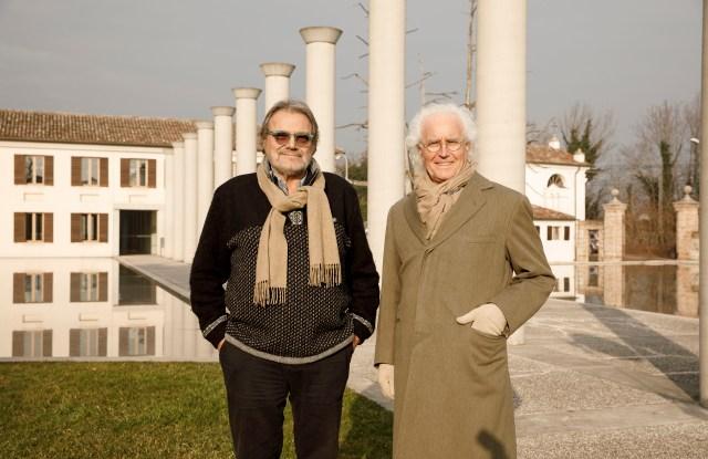 Oliviero Toscani and Luciano Benetton.
