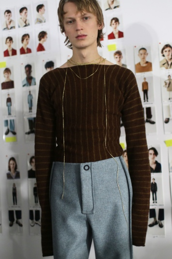 Backstage at Acne Studios Men's Fall 2018