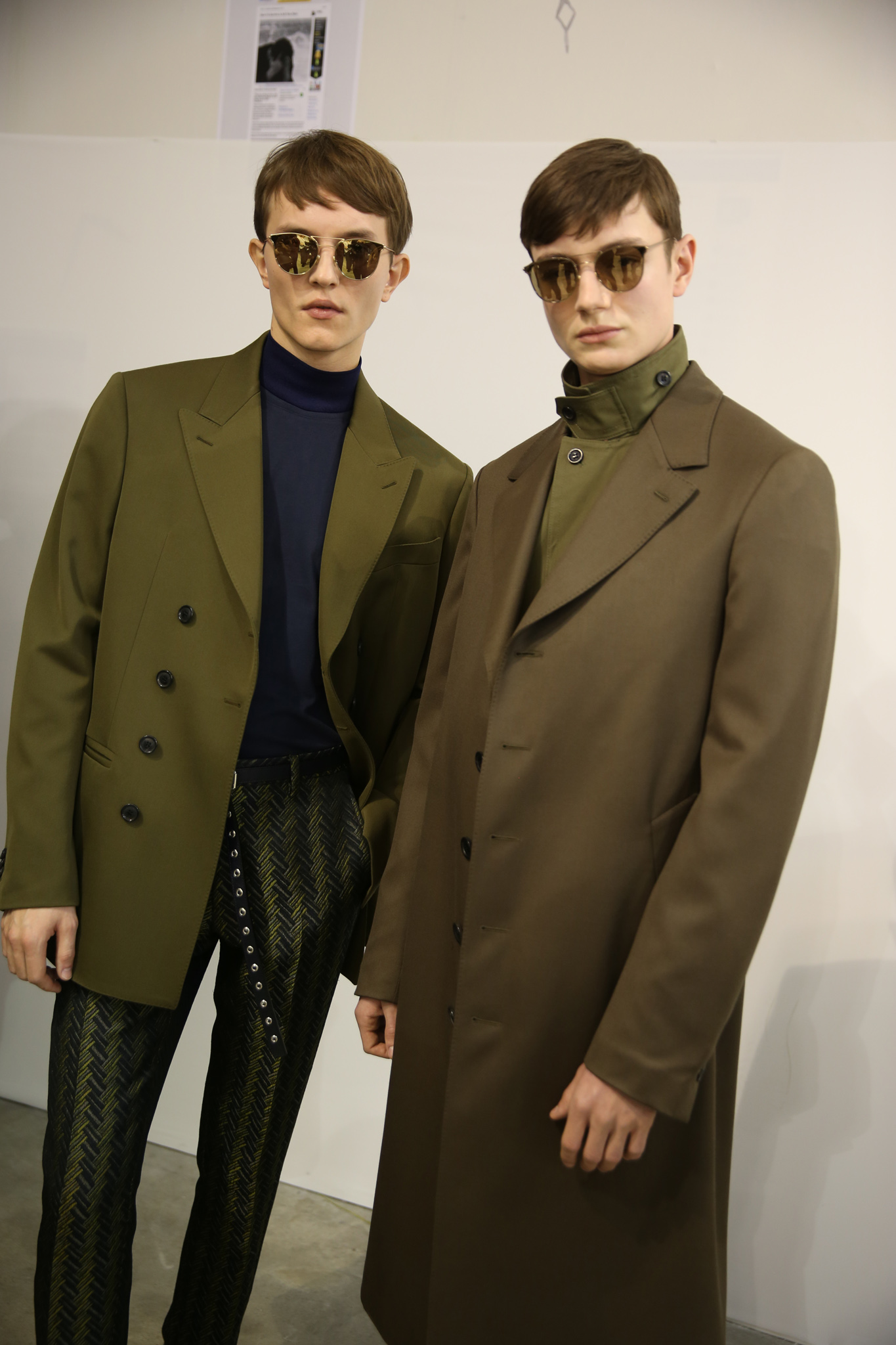 Backstage at Cerrutti 1881 Men's Fall 2018