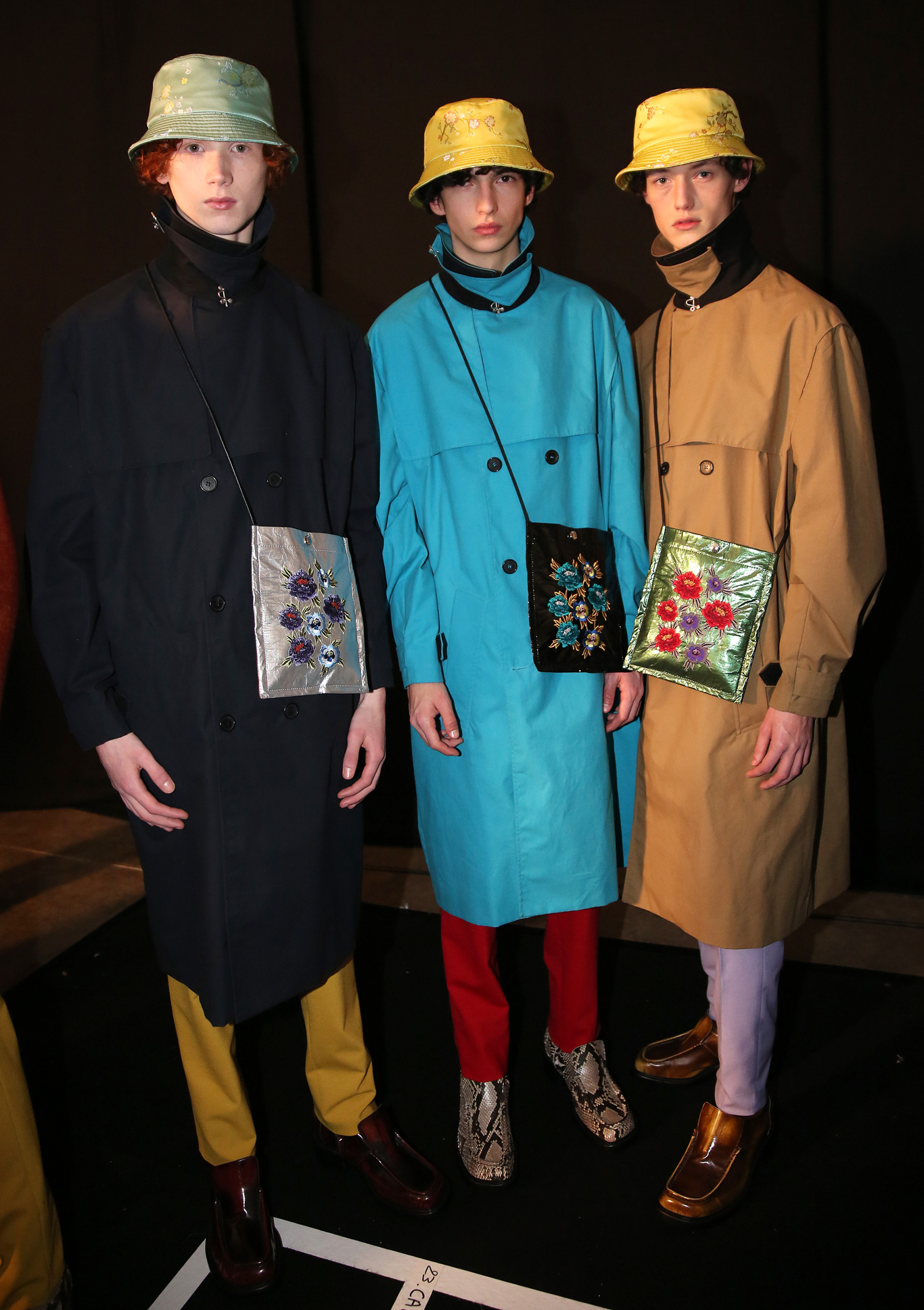 Backstage at Kenzo Men's Fall 2018