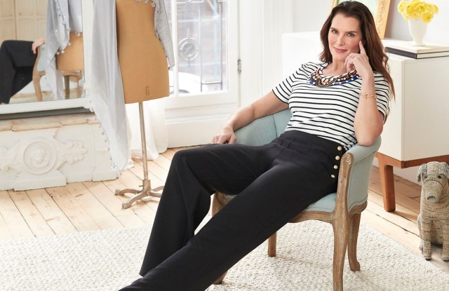 Brooke Shields in a look from her QVC collection.
