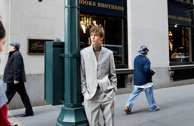 A look from Brooks Brothers.