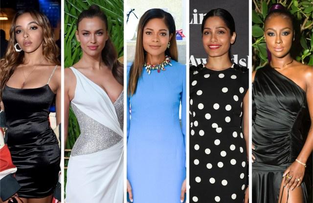 Tinashe, Irina Shayk, Naomie Harris, Freida Pinto and Justine Skye