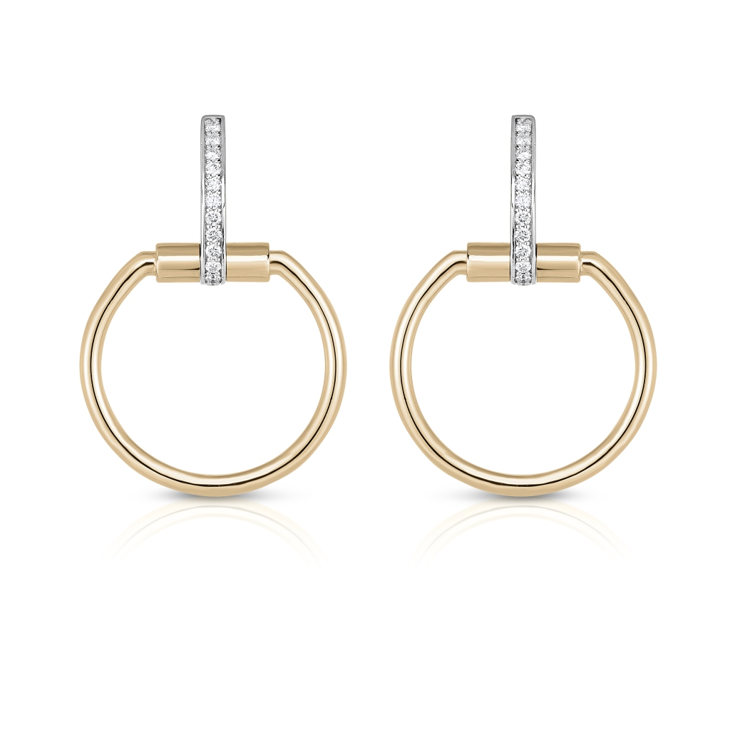 """A pair of earrings from Roberto Coin """"Classique Parisienne"""" collection"""