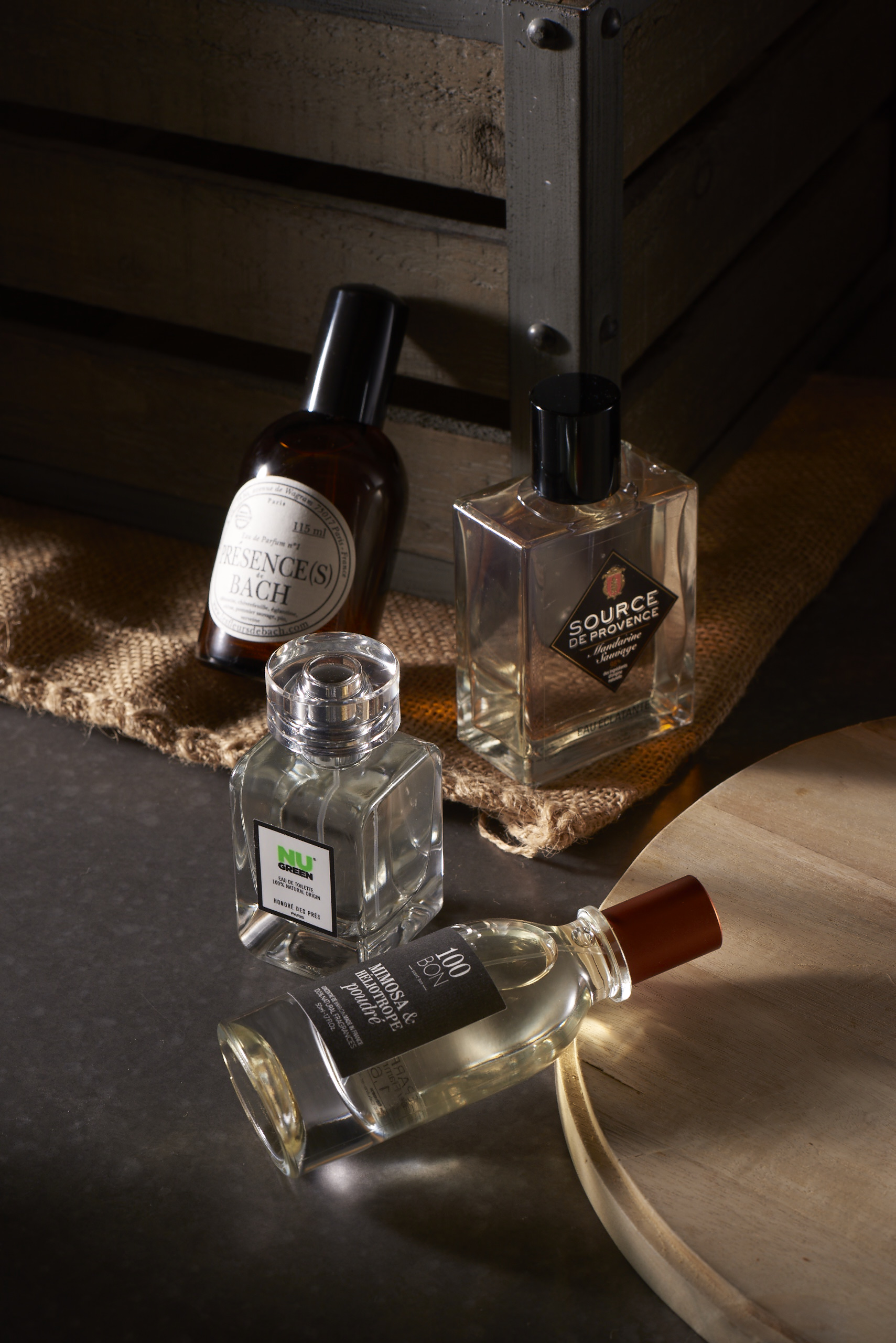 Brands such as 100 Bon, Source de Provence, Honoré des Prés and Essences de Bach blend the sensibility of fine fragrance with an all-natural ingredient palette.