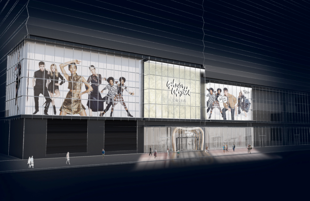 The planned outside facade for the Shanghai flagship.