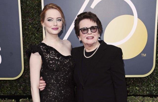 Emma Stone and Billie Jean King, Golden Globes 2018
