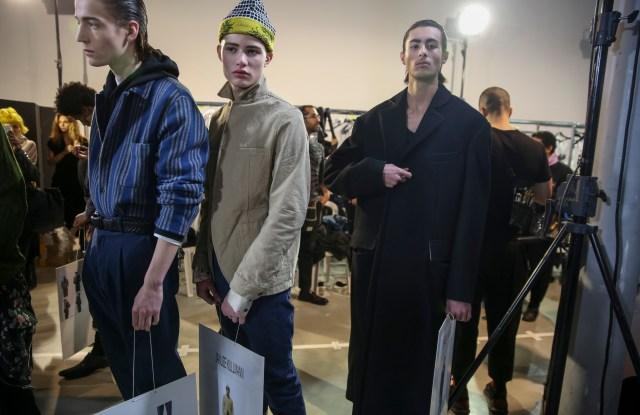 Backstage at Haider Ackermann Men's Fall 2018